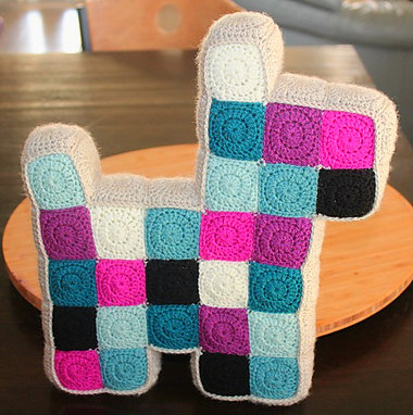 Patchwork Dog Pillow Free Crochet Pattern Free Crochet