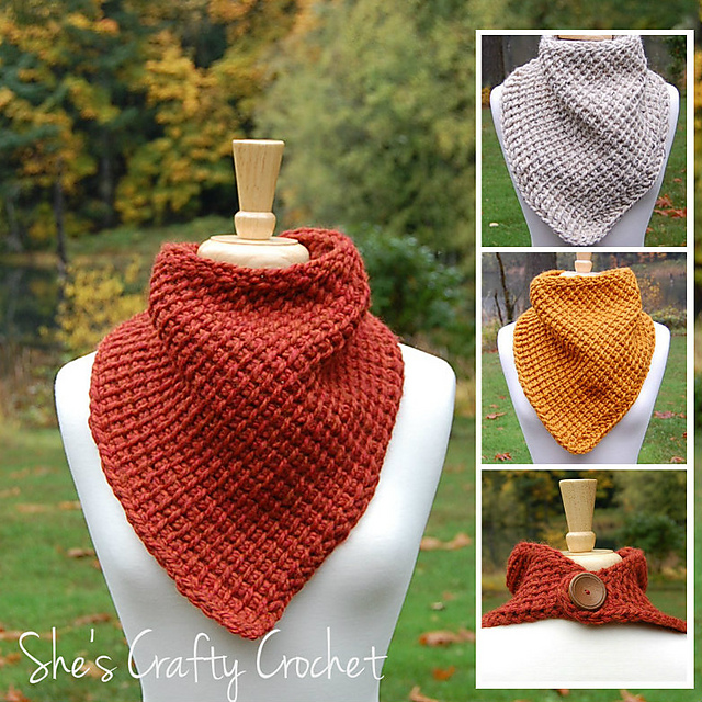 Scarf With A Simple Tunisian Stitch Free Crochet Pattern Free