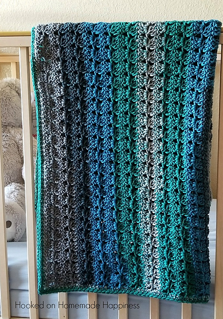 Cluster Stripes Blanket Free Crochet Pattern Free Crochet Patterns