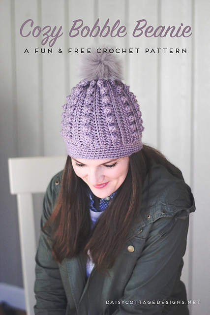 Cozy Bobble Hat Free Crochet Pattern | Free Crochet Patterns