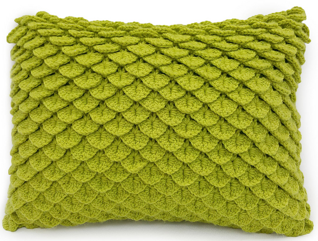 Crocodile Stitch Pillow Free Crochet Pattern Free Crochet Patterns