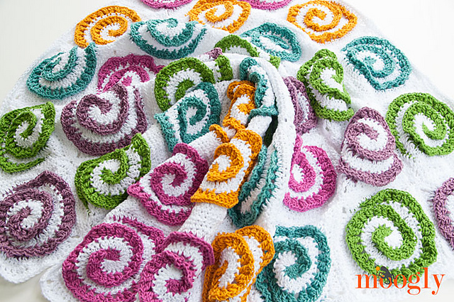 Modern Rose Afghan Blanket Free Crochet Pattern Free Crochet Patterns