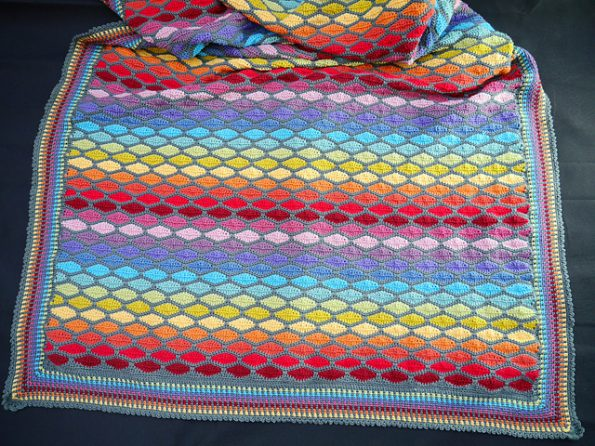 Rainbow Stained Glass Blanket Free Crochet Pattern Free Crochet