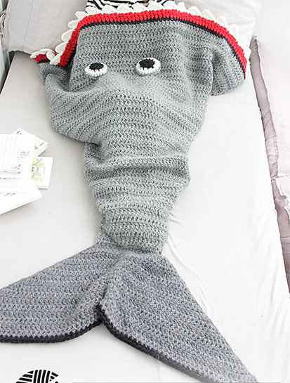 Shark Blanket For Kids Free Crochet Pattern Free Crochet Patterns