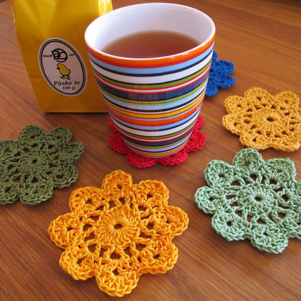 Flower Coasters Free Crochet Pattern | Free Crochet Patterns