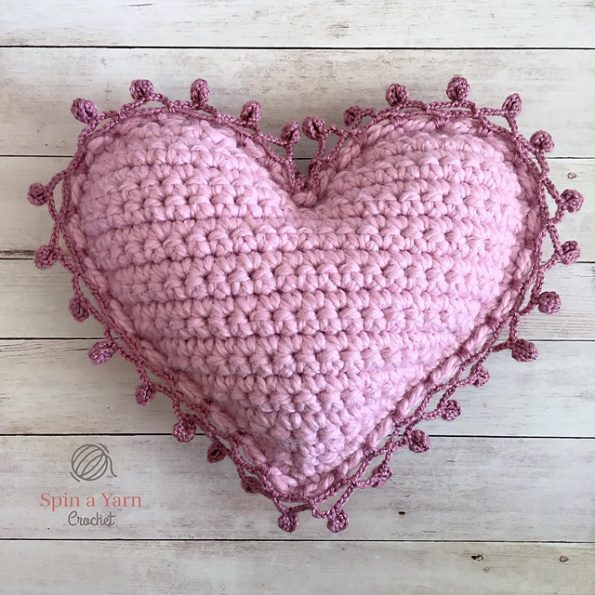 Heart Pillow Free Crochet Pattern Free Crochet Patterns