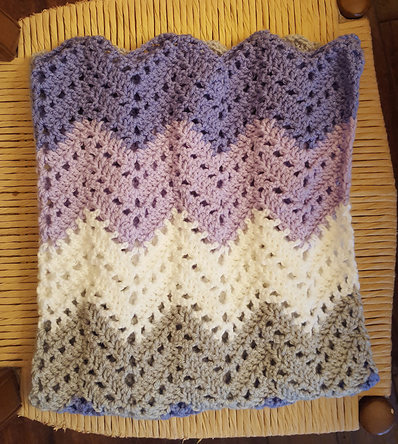 Lacy Ripple Afghan Blanket Free Crochet Pattern Free Crochet Patterns