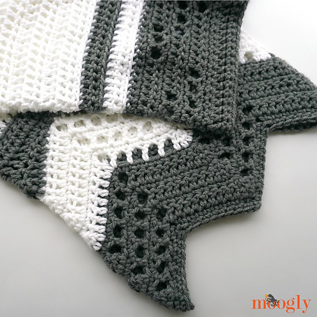 Modern Luxe Throw Blanket Free Crochet Pattern | Free Crochet Patterns
