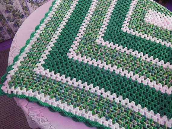 Rectangle Granny Throw Blanket Free Crochet Pattern Free Crochet