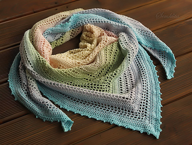 Summer Morning Shawl Free Crochet Pattern Free Crochet Patterns