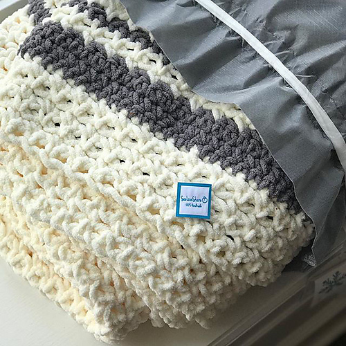 Cozy Modern Blanket Free Crochet Pattern Free Crochet Patterns
