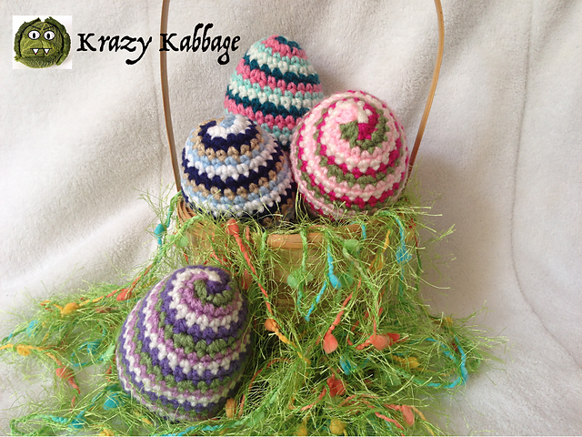 Spiral Easter Egg Free Crochet Pattern Free Crochet Patterns