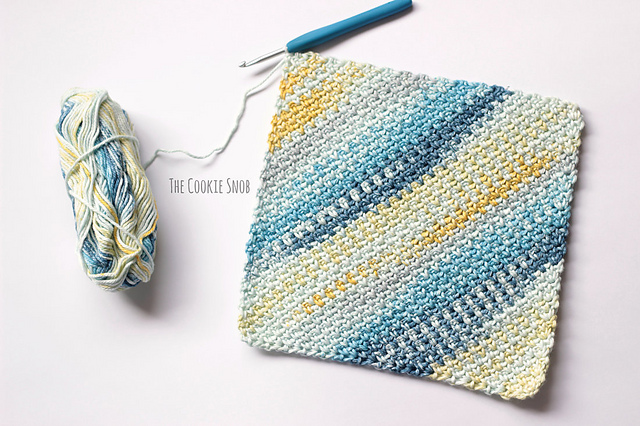 Moss Stitch Washcloth C2c Free Crochet Pattern Free Crochet Patterns