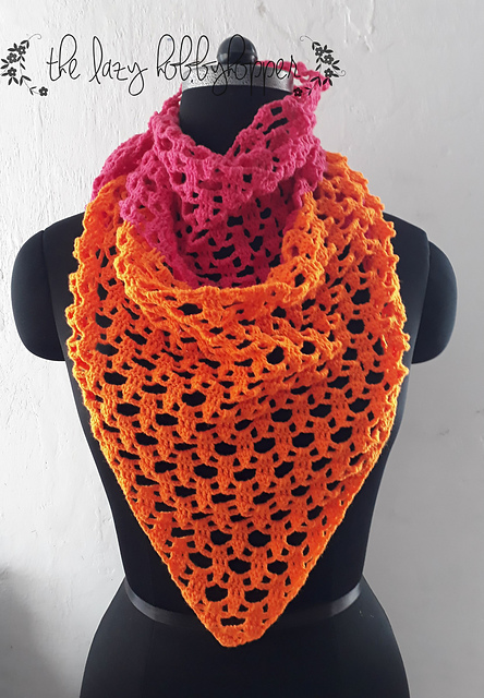 Cute Triangle Shawl Free Crochet Pattern Free Crochet Patterns