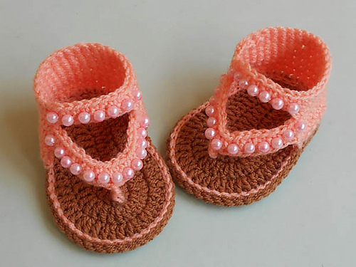 Baby Flip Flop Sandals Free Crochet Pattern Free Crochet Patterns