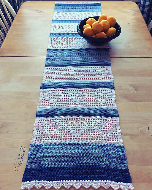 Heart Table Runner Free Crochet Pattern Free Crochet Patterns