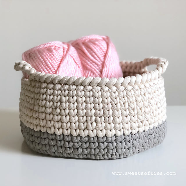 Knit Stitch Crochet Basket Free Crochet Pattern Free Crochet Patterns Classy Free Crochet Basket Patterns