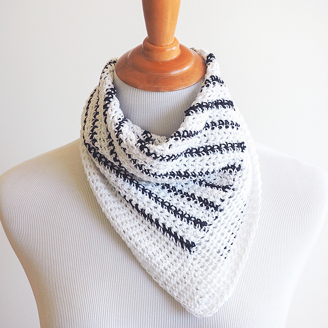 Striped Neck Scarf Free Crochet Pattern Free Crochet Patterns