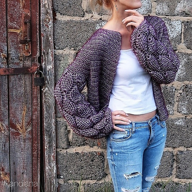 6d51d6e52 Cardigan is very impressive through beautiful sleeves. They attract all  attention. The pattern is very delicate. It s worn on the body.