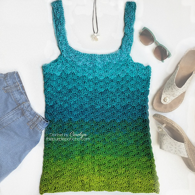 Seaglass Tank Top Free Crochet Pattern Free Crochet Patterns