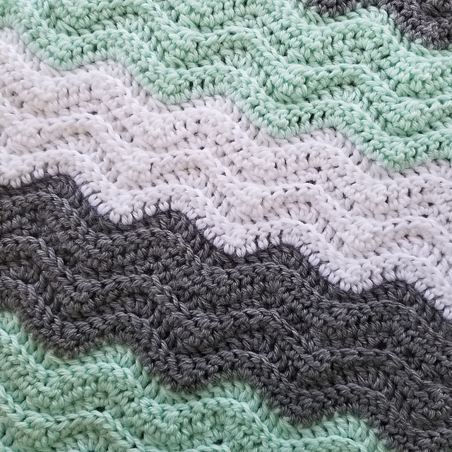 Striped Chevron Baby Blanket Free Crochet Pattern Free Crochet