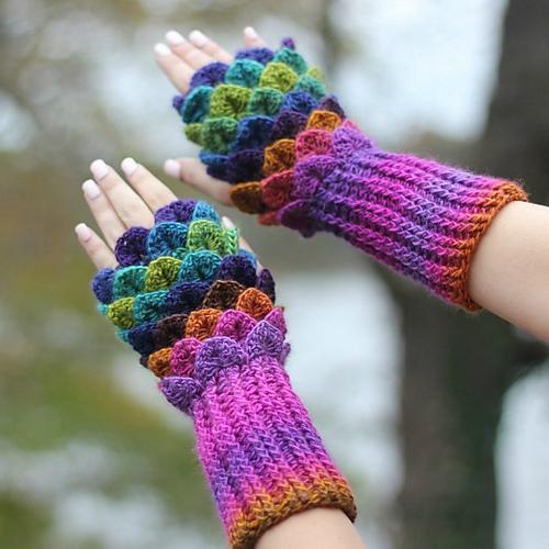 Crocodile Stitch Gloves Free Crochet Pattern Free