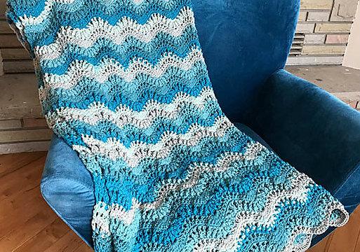 Breaking Waves Afghan Blanket Free Crochet Pattern Free