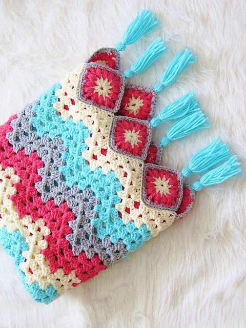 Granny Ripple Afghan Blanket Free Crochet Pattern Free