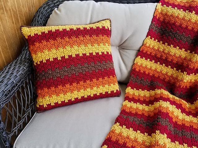 Fall Foliage Pillow Free Crochet Pattern Free Crochet Patterns