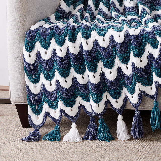 Ogee Stitch Afghan Blanket Free Crochet Pattern Free